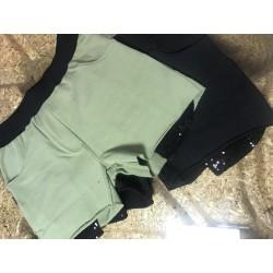 Pantalón Sport negro lentejuelas