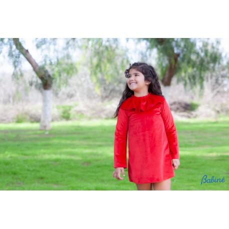 vestido rojo terciopero